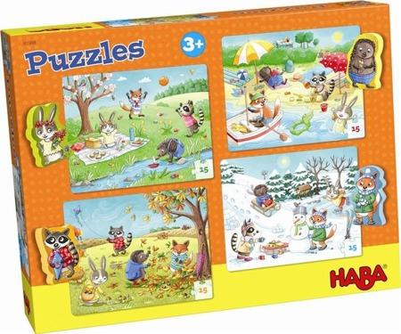 Puzzle cztery pory roku 4 w 1 (15 el.), HABA