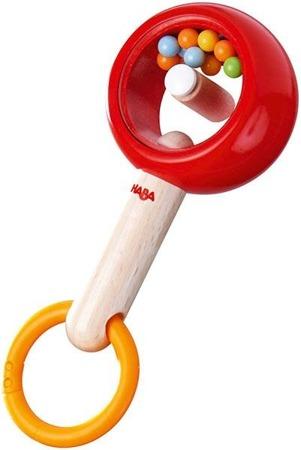Drewniana grzechotka, marakas, gryzak dla niemowląt, Rattle Ring, HABA