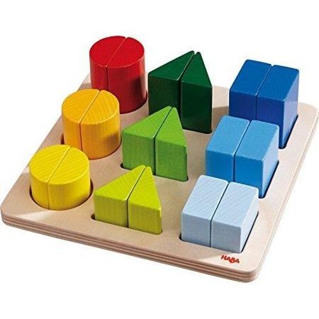 Drewniany sorter figur - układanka wielostopniowa Magiczne formy, 2+, HABA