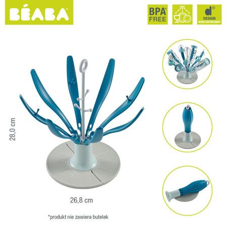 Składana suszarka do butelek na mleko i smoczków Kwiat blue, Beaba