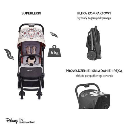 Wózek spacerowy lekki 6 kg kompaktowy + osłonka Minnie Ornament, Disney by Easywalker Buggy XS