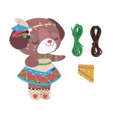 Sznurowanka Kolorowe zwierzątka do sznurowania - zabawka zręcznościowa 4+, Janod