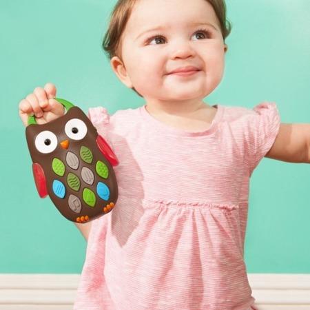 Aktywny telefon Sowa - plastikowy telefon z dźwiękami dla dzieci i niemowląt, SKIP HOP 303200
