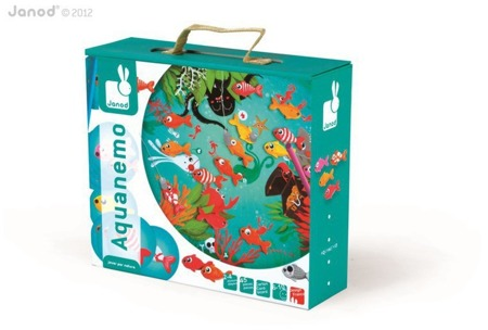 Aquanemo gra Łowienie rybek - złap rybki na wędkę gra zręcznościowa, Janod J02932