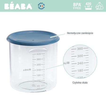 Beaba Słoiczek z hermetycznym zamknięciem 420 ml blue