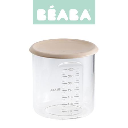 Beaba Słoiczek z hermetycznym zamknięciem 420 ml nude
