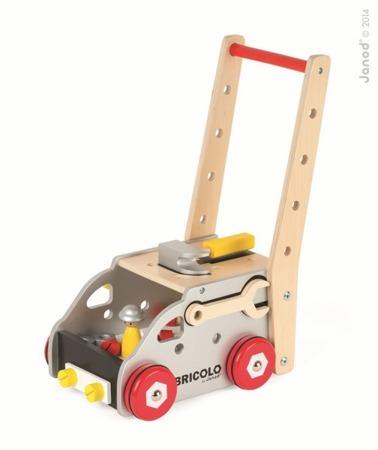 Ciężarówka z narzędziami Bricolo - do pchania magnetyczna, Janod - 23 narzędzia i ciężarówka