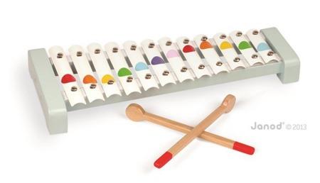 Cymbałki 12 tonów Janod z serii Confetti - drewniany instrument dla dzieci