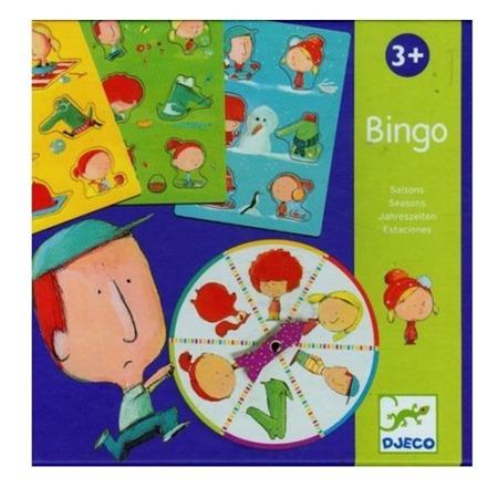Gra BINGO pory roku - zestaw z 4 planszami do gry, DJECO, DJ08114