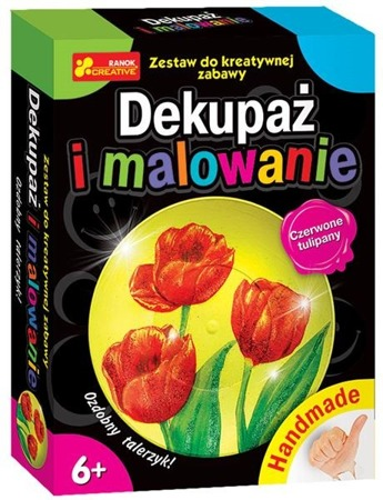 Dekupaż i malowanie. Czerwone tulipany - DIY dla dzieci, 6 lat +, RANOK-CREATIVE