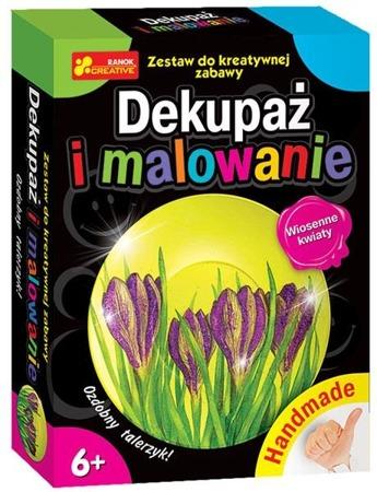Dekupaż i malowanie. Wiosenne kwiaty - DIY dla dziecka, 6 lat +, RANOK-CREATIVE