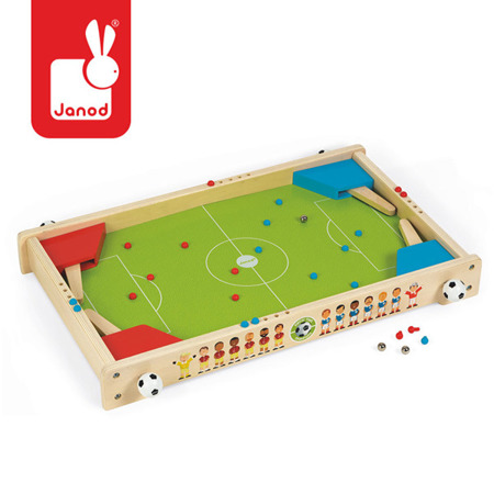 Drewniana gra pinball piłkarzyki 3 lata +, JANOD J02071