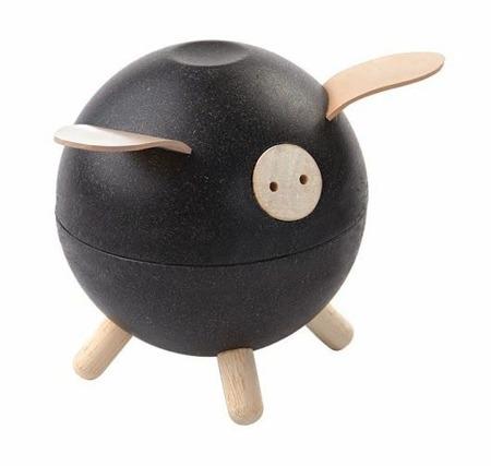 Drewniana świnka skarbonka - skarbonka dla dzieci o nowoczesnym designie, ekologiczna Plan Toys