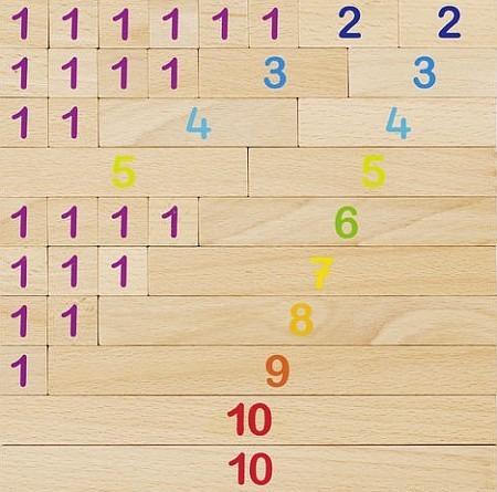 Drewniana tablica matematyczna - klocki do nauki liczenia 36 elementów, GOKI