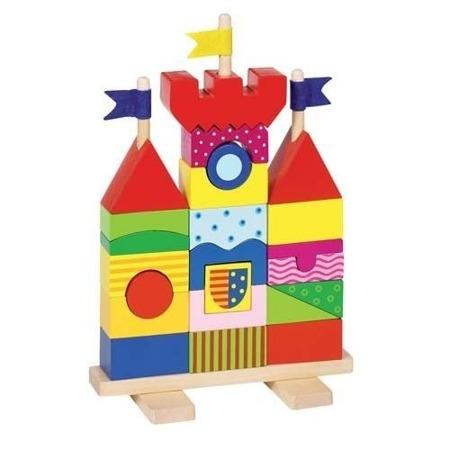 Drewniana układanka Zamek - układanka na patykach, klocki, GOKI