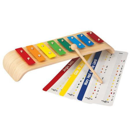 Drewniane cymbałki - ksylofon, metalofon Melody, Plan Toys