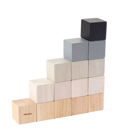 Drewniane klocki - nowoczesny design dla dzieci 18m+, Plan Toys