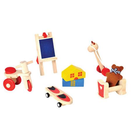 Drewniane mebelki dla lalek - akcesoria do domku dla lalek - Zabawki dla lalek, Plan Toys PLTO-9711
