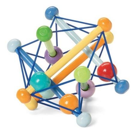 Drewniany gryzak dla niemowląt - synchronizacja kolorów, 0m+, Manhattan Toy