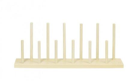 Drewniany stojak na 12 pacynek na palec, kukiełki