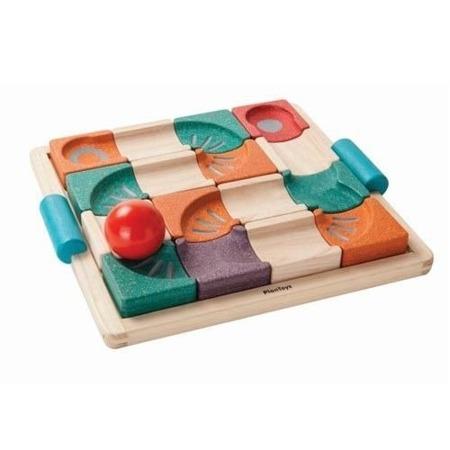 Drewniany tor kulkowy - balansujący tor dla kulek, tor układanka Plan Toys PLTO-5604