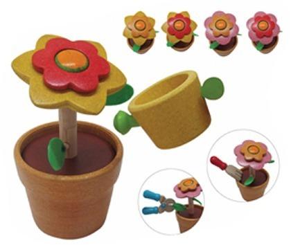Drewniany zestaw ogrodnika - drewniany kwiatek do pielęgnacji dla dzieci, Plan Toys