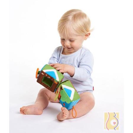 Dwustronna kostka rozwojowa dla dzieci - miękka kostka edukacyjna 3m+, Tiny Love