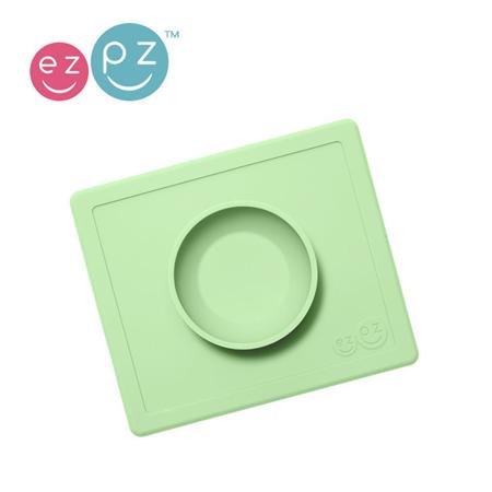 EZPZ Silikonowa miseczka z podkładką 2w1 Happy Bowl pastelowa zieleń