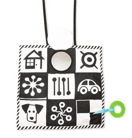 Edukacyjna mata - kontrastowa mata dla niemowląt 0m+, Manhattan Toy