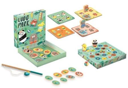 Gra LUDO PARK - 4 gry: lotto, memo, łowienie na wędkę i gra planszowa, DJECO DJ01698 N