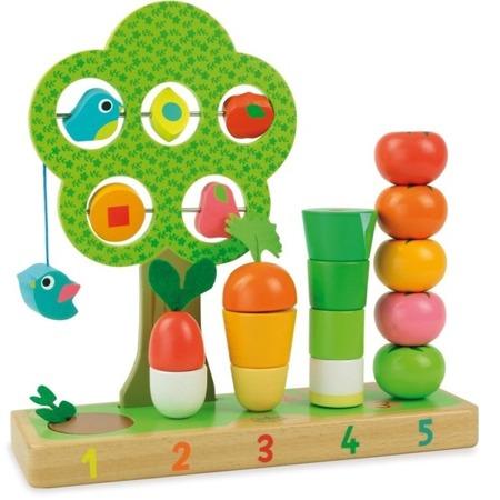 Gra edukacyjna - nauka liczenia, uczę się liczyć - WARZYWA, 18m+ VILAC