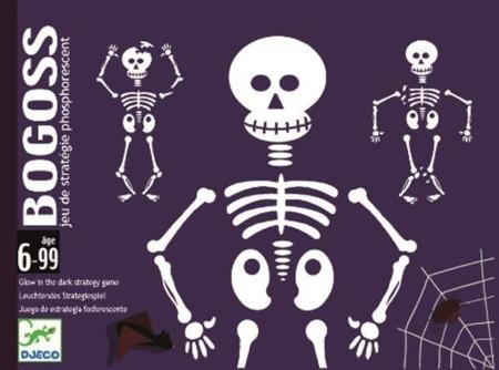 Gra karciana Bogoss - ludzkie szkielety, świeci w ciemności, DJECO DJ05160