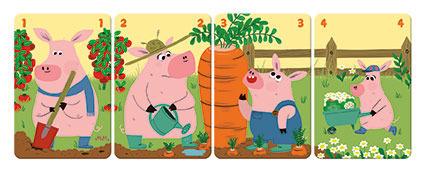 Gra karciana Rodziny na farmie, 3 lata +, JANOD