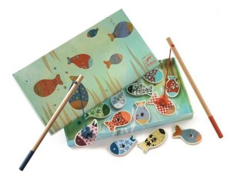 Gra zręcznościowa rybki - wędkowanie, łowienie rybek na magnesy DJECO DJ01650