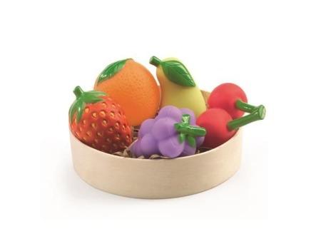 Gumowe owoce dla dzieci do odgrywania ról, sprzedaży, gotowania DJECO DJ06608