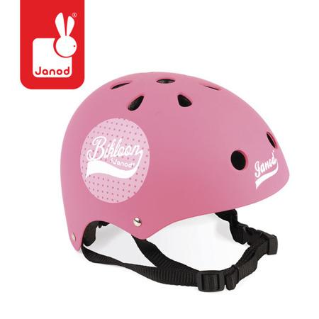 Kask rowerowy dla dzieci różowy, regulowany 47-54 cm (3 lata +), Janod J03272