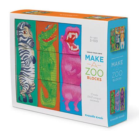 Klocki, układanka zwierzęta - zbuduj własne ZOO, baw się ze zwierzakami!, Crocodile Creek
