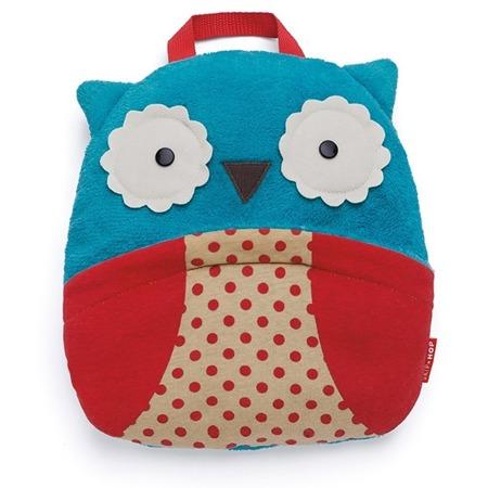 Koc w plecaku - rozkładany, podróżny koc dla dzieci z motywem Zoo Sowa, SKIP HOP