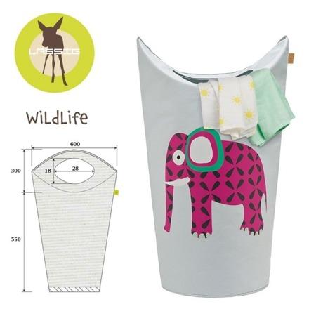 Kosz na zabawki lub pranie Wildlife Słoń, Lassig