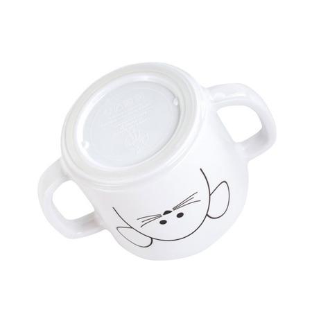 Kubek do picia dla dzieci z dziubkiem z melaminy Little Chums Mysz, Lassig