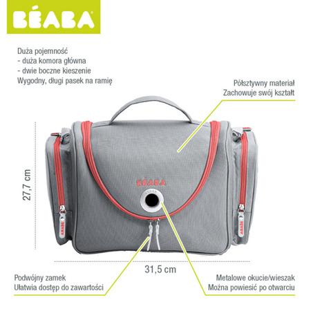 Kuferek, torba na kosmetyki dla niemowląt i małych dzieci Vanity grey/coral, Poliester, BEABA