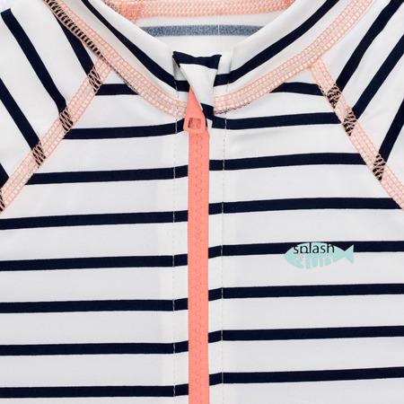 Lassig Kombinezon do pływania z krótkim rękawem Striped girls UV 50+