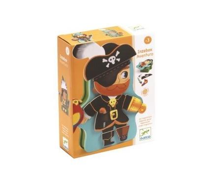 Magnetyczne puzzle postaciowe PIRACI AVENTURA, DJ03083 N DJECO