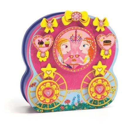 Magnetyczne puzzle postaciowe, księżniczka z karetą - CAROSSIMO DJ03082 N, DJECO
