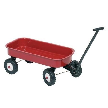 Metalowy wózek do ciągnięcia dla dzieci - taczka do piasku, na spacery Goki 14060