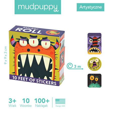 Naklejki na rolce Potwory 100 szt. - Mudpuppy  MP41715