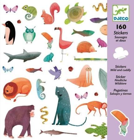 Naklejki zwierzęta - zestaw zwierzątek 160 szt., DJECO