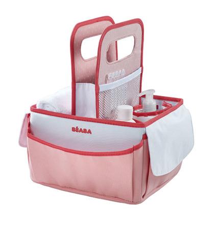 Organizer na pieluszki i akcesoria nude/coral dla niemowląt, BEABA