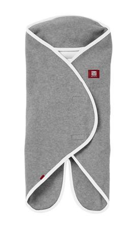 Otulacz rożek, kocyk dla noworodka i niemowlaka Babynomade 0-6m Double Fleece Light grey/ White Red Castle