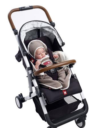 Otulacz rożek, kocyk dla noworodka i niemowlaka Babynomade 6-12m Double Fleece Heather beige /Ecru, Red Castle